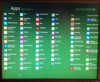 Win8.1 pre installed apps